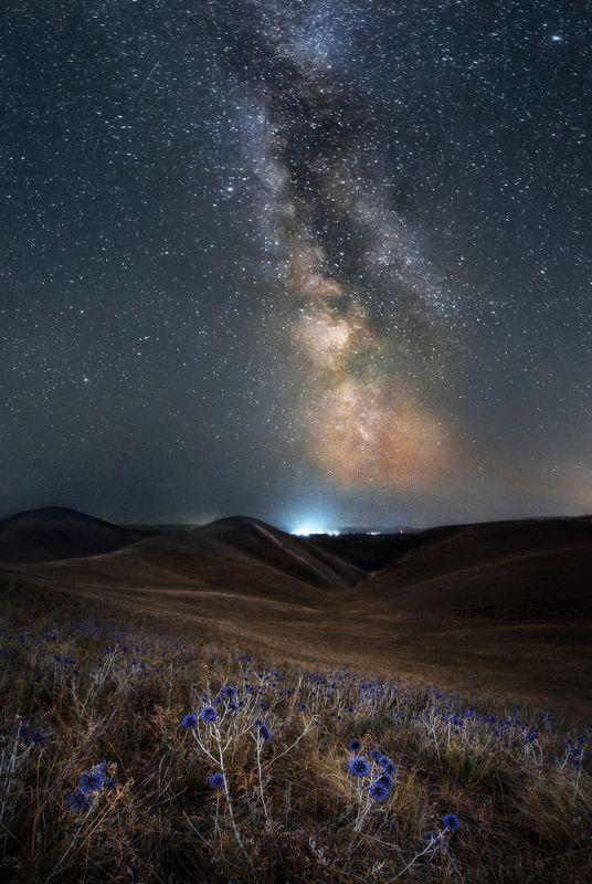 урал, южный урал, горы, долгие горы, пейзаж, звездные треки, ночной пейзаж, млечный путь, звезды, milky way Млечный путь над Ураломphoto preview