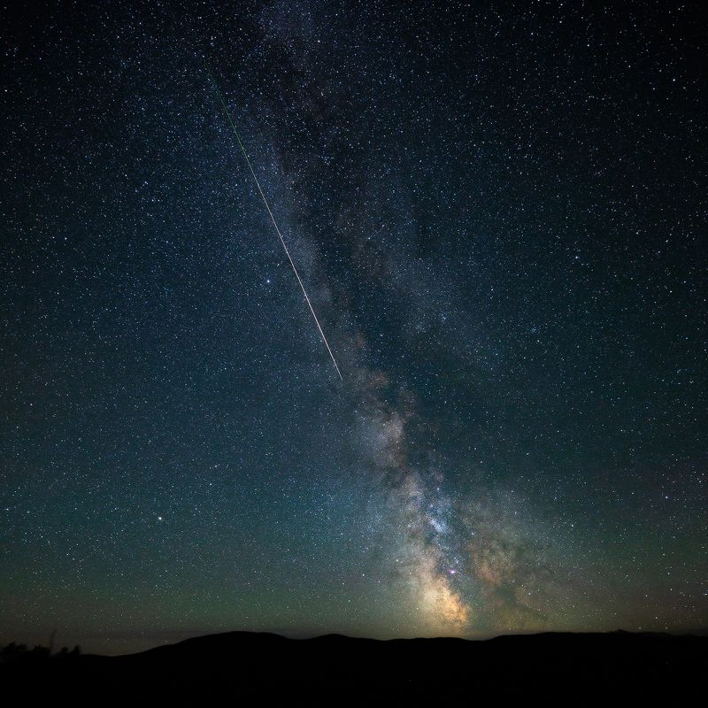 milkyway, meteor, sky, night РОСЧЕРКphoto preview