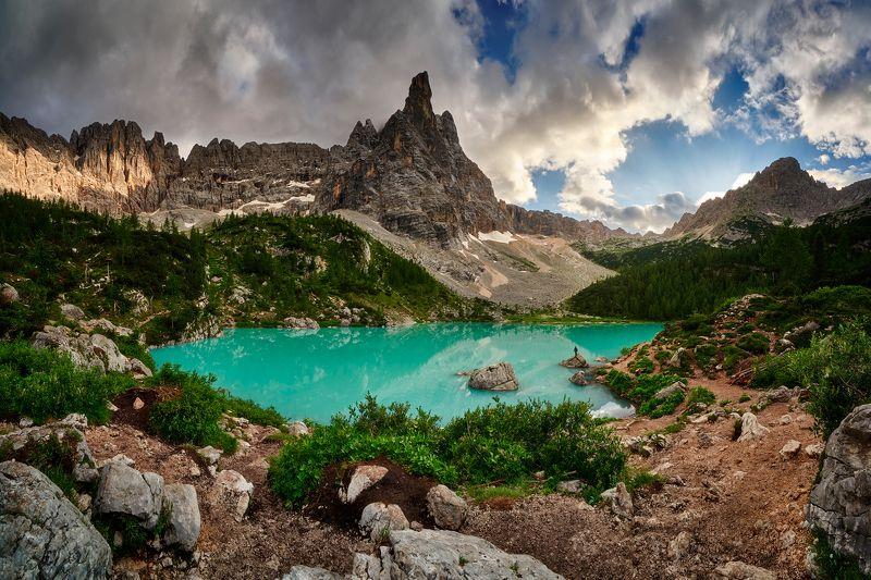 dolomites,italy Lago di Sorapisphoto preview