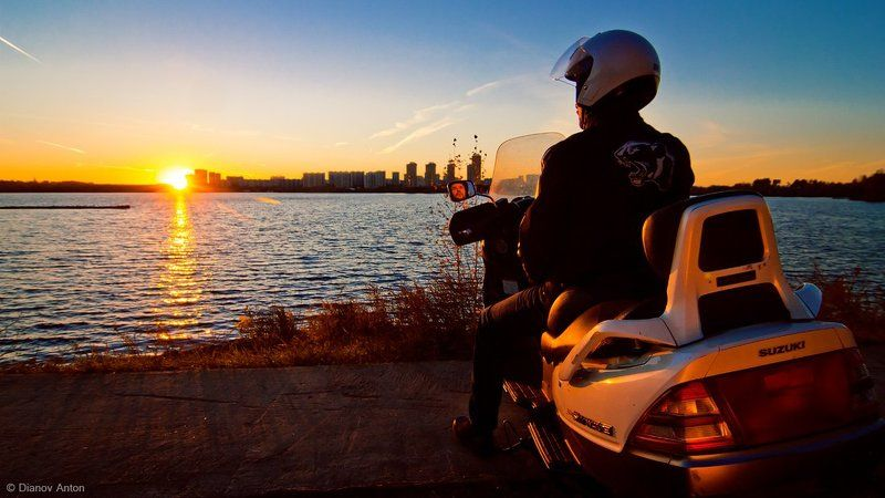 Burgman, Skywave, Suzuki., Закат, Москва, Мото, Мотоцикл, Строгино, Фото на мотоцикле My live - my way.photo preview