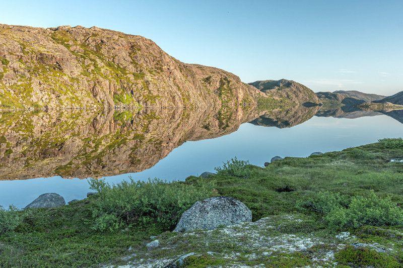 Пейзаж, озеро, зеркало, Териберка Зеркало Териберских озерphoto preview