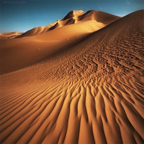 Abstraction. Squared Sahara Desert.