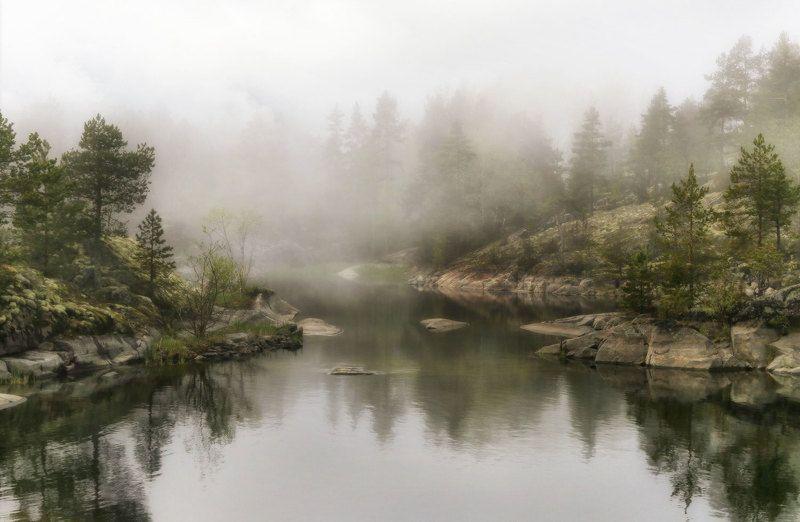Озеро дышит лёгким туманомphoto preview