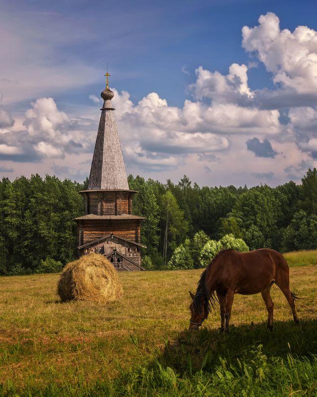 Вогодская обл., Семёнково, деревянное зодчество Августphoto preview