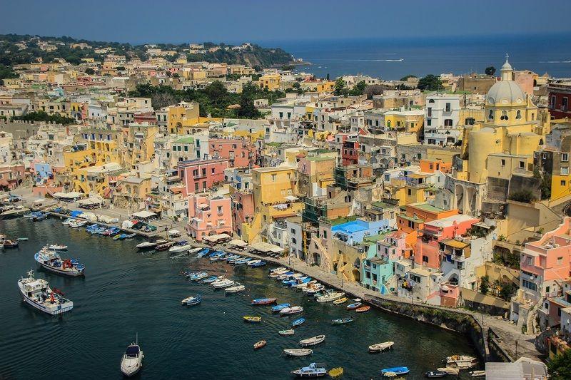 procida, island, italy, architecture, sea, travel, europe, boats, cityscape, view, италия, остров, прочида, путешествия Procida island, Italyphoto preview