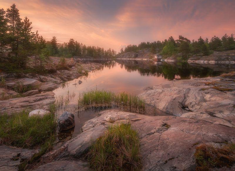 ладога,утро,рассвет,пейзаж,шхеры Предрассветная Ладога...photo preview