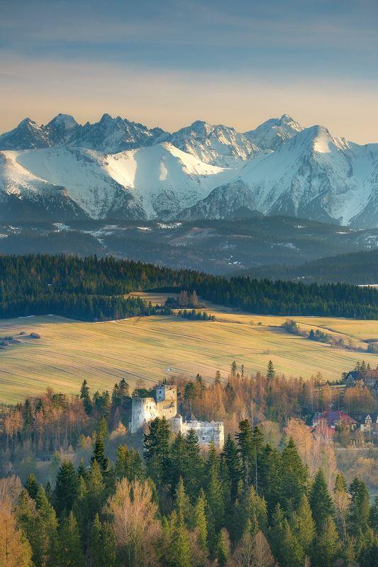 landscape, castle, niedzica, tatry, tatra mountains, spring, golden hour, peaks, history Niedzica Castlephoto preview