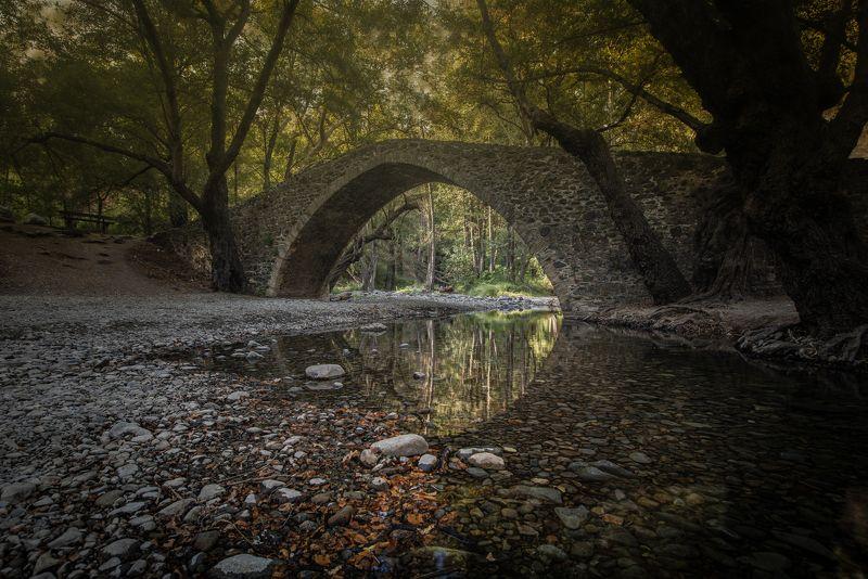 cyprus, bridge, river, forest, arch bridge, calm, landscape The Bridgephoto preview