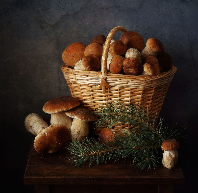 натюрморт,композиция,грибы грибной сезон... фото превью