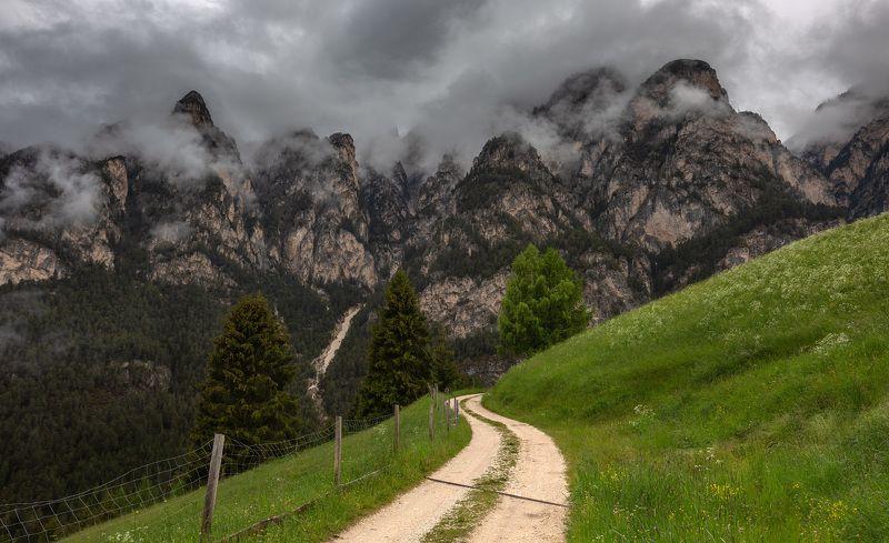 италия, доломиты, горы, облака, природа, landscape, italy, dolomites Альпийский пейзаж.photo preview