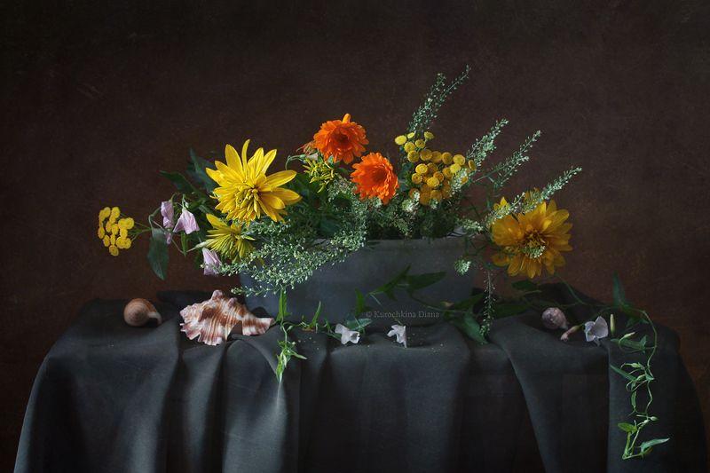 натюрморт, лето, цветы летнийphoto preview