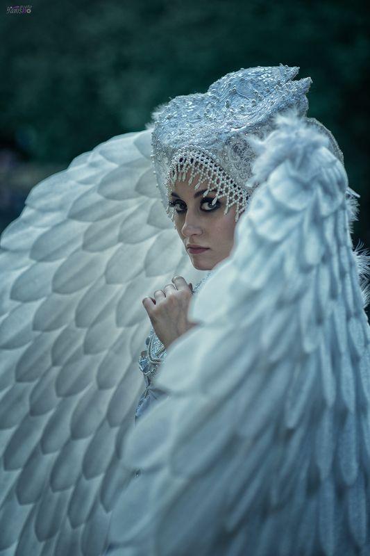 портрет, царевна-лебедь, картина, Врубель, Третьяковская галерея, сказка, Пушкин, крылья, птица, белый Царевна лебедьphoto preview
