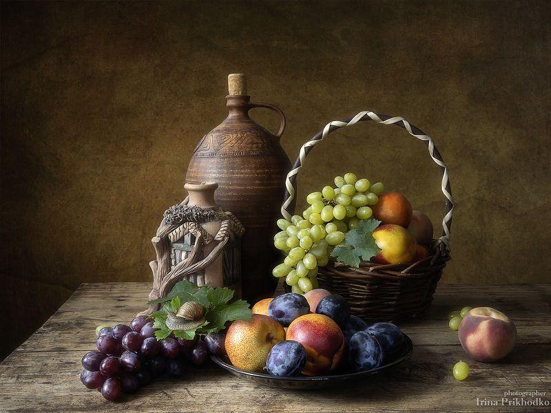 натюрморт, лето, фрукты, винтажный Натюрморт с фруктамиphoto preview