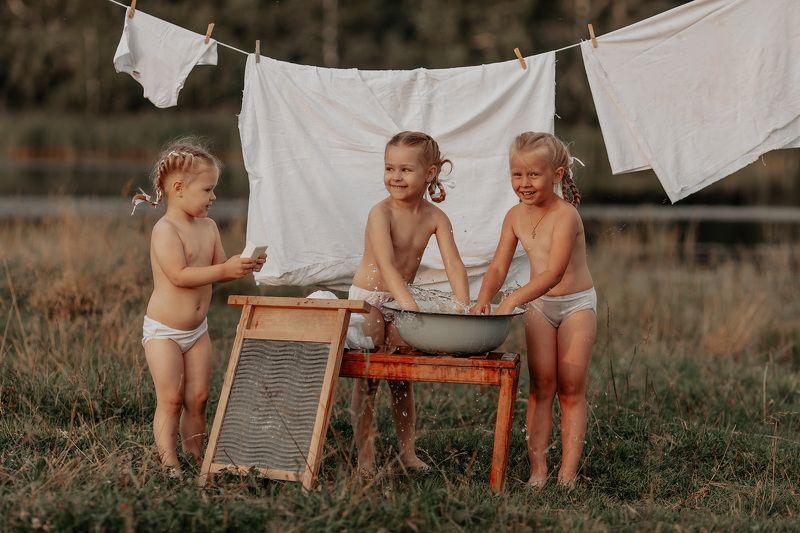 дети на природе sistersphoto preview