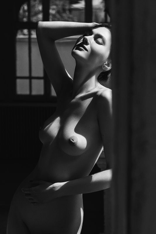 nude,b&w,девушка,ню,model,ч/б photo preview