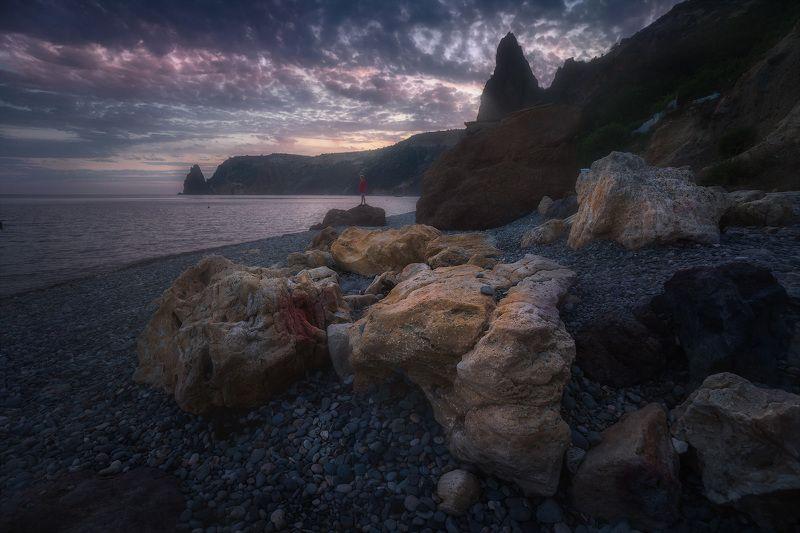 крым, фиолент Вечер на Яшмовом пляжеphoto preview