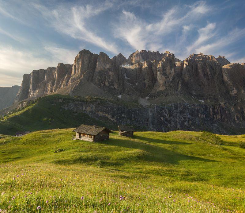 италия, доломиты, горы, облака, восход, природа, landscape, italy, dolomites, golden hour, golden light, sunrise Летним утром.photo preview