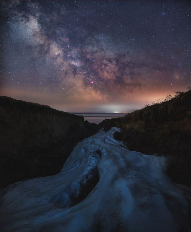 ночь, млечныйпуть, звезды, астрофотография Ночной снежникphoto preview