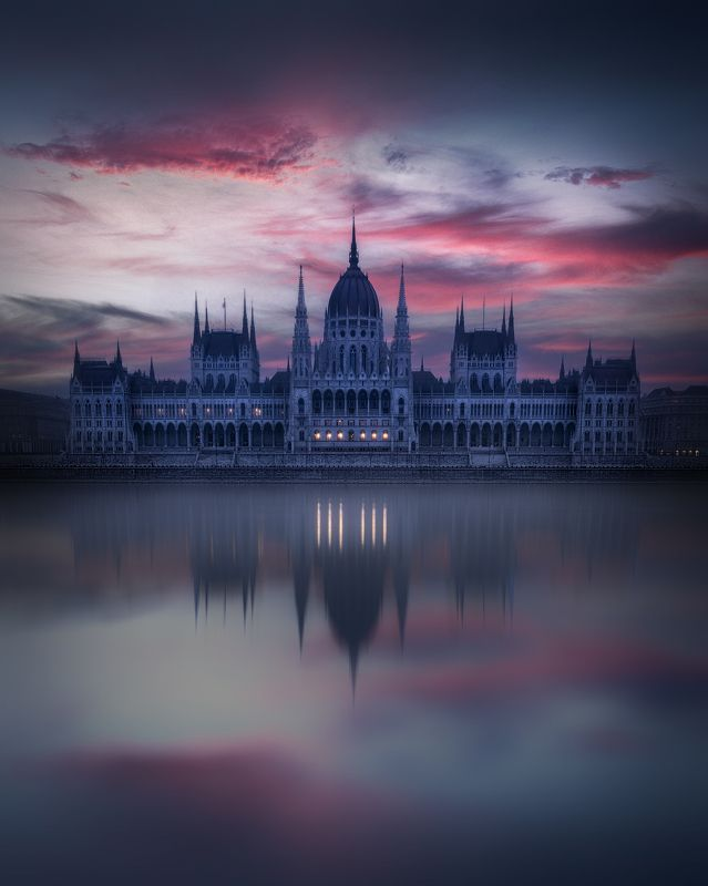 budapest, sunrise, reflections Budapest Reflectrionsphoto preview