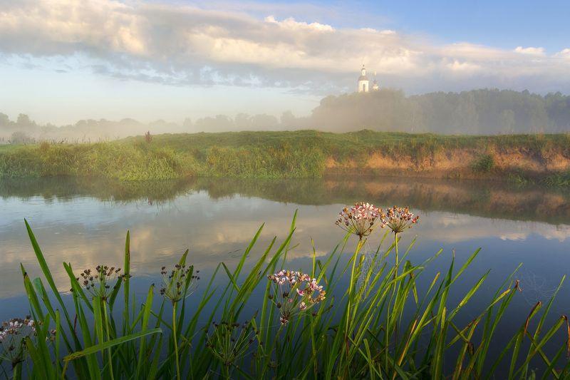 туман, владимирская область, утро, природа, пейзаж, лето, рассвет, солнце Прекрасное туманное утро в Филипповскомphoto preview