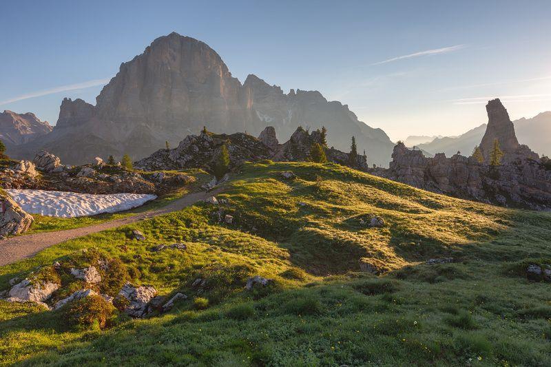 италия, доломиты, горы, восход, природа, landscape, italy, dolomites, golden hour, golden light, sunrise Альпийский пейзаж.photo preview