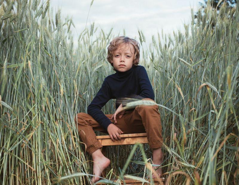 мальчик, пшеница, портрет Mishaphoto preview