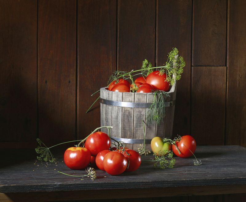 натюрморт, фотонатюрморт, лето, помидоры, овощи, август, наталья казанцева Кончается август...photo preview