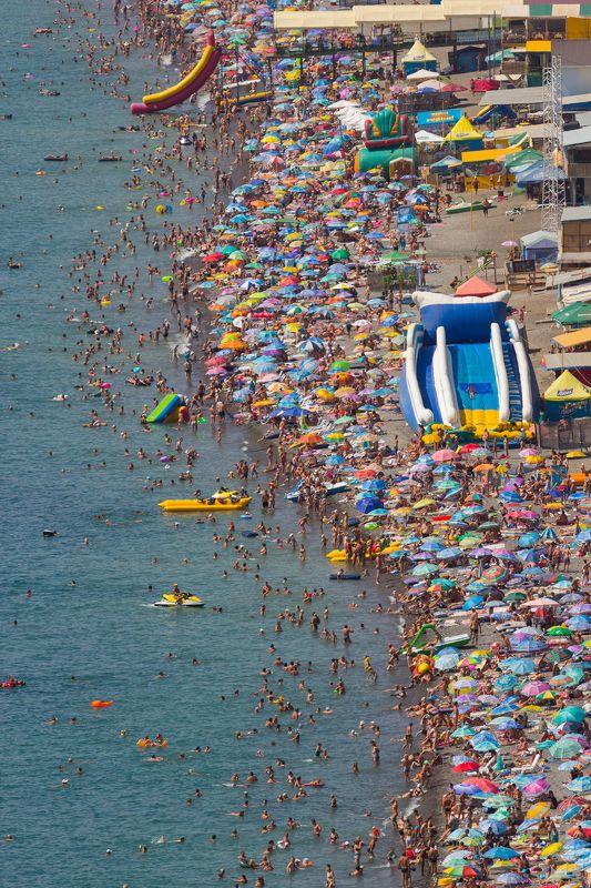 крым, алушта, рыбачье, пляж, отдых, черное море, канака, пальма, крымские пейзажи Пляжphoto preview