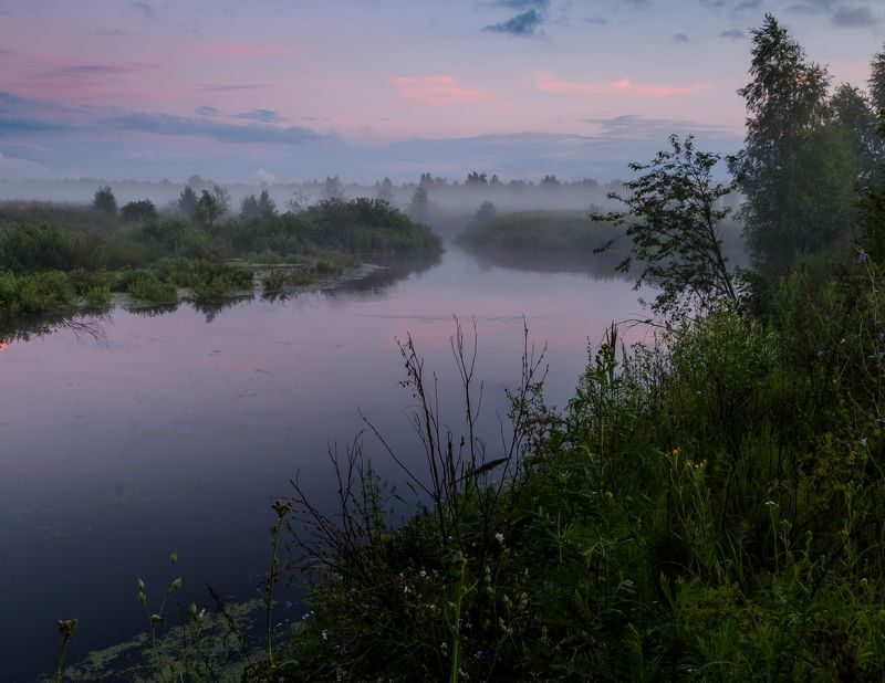 туман, ночь В розовых оттенкахphoto preview
