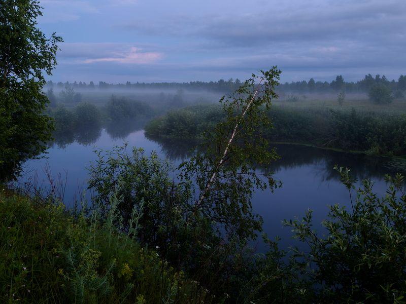 туман, ночь, река, пейзаж, природа Туманный вечерphoto preview