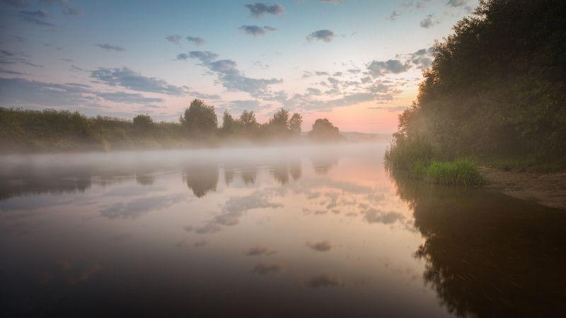 туман, утро, река Утренний этюдphoto preview