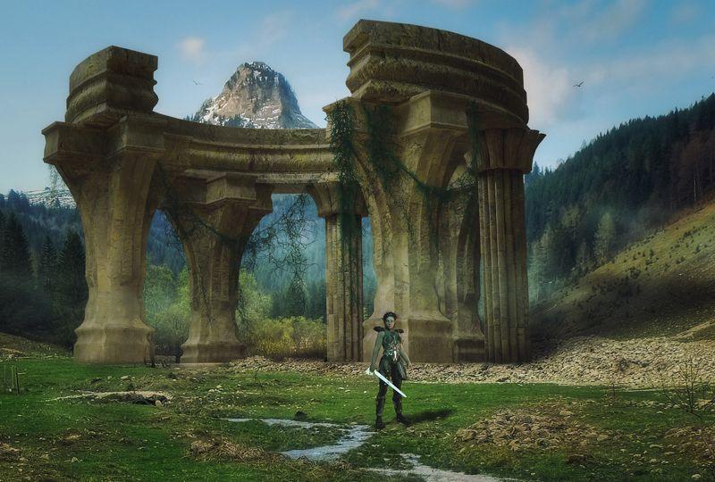 скалы, колонны Эльфийский стражphoto preview