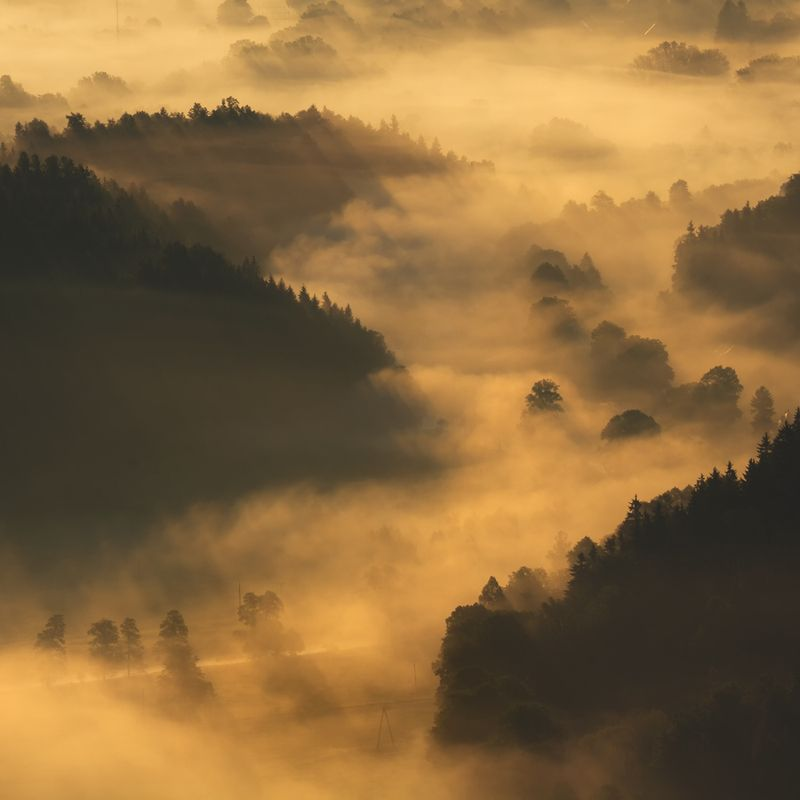 landscape,spring,mountains,canon Valley of the Morning Mists... фото превью