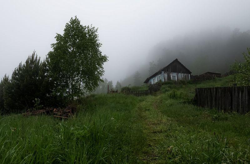 дом, река, туман, одиночество, Дом у реки.photo preview