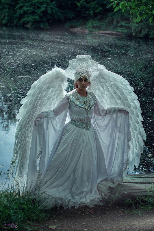 портрет, царевна-лебедь, картина, Врубель, Третьяковская галерея, сказка, Пушкин, крылья, птица, белый photo preview
