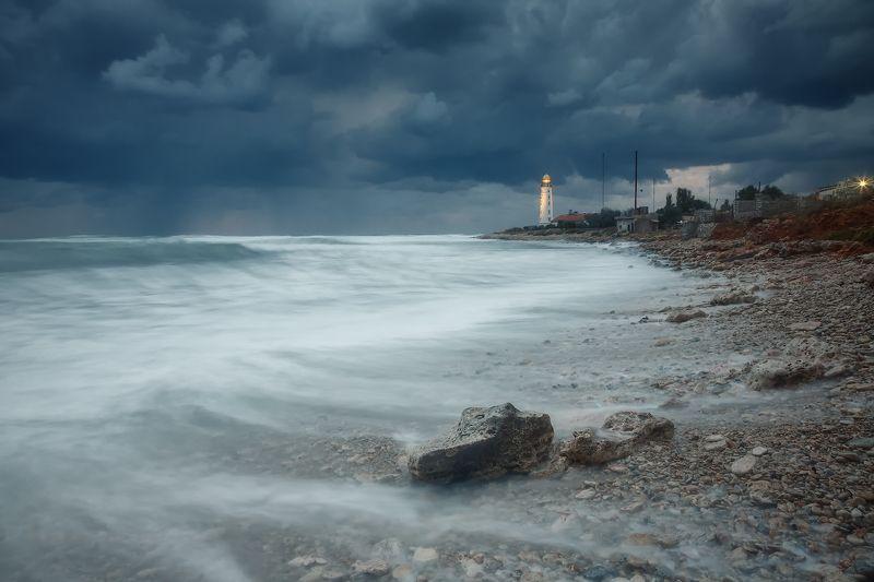 севастополь, море, шторм, закат. Зашёл сентябрь в Севастополь.photo preview
