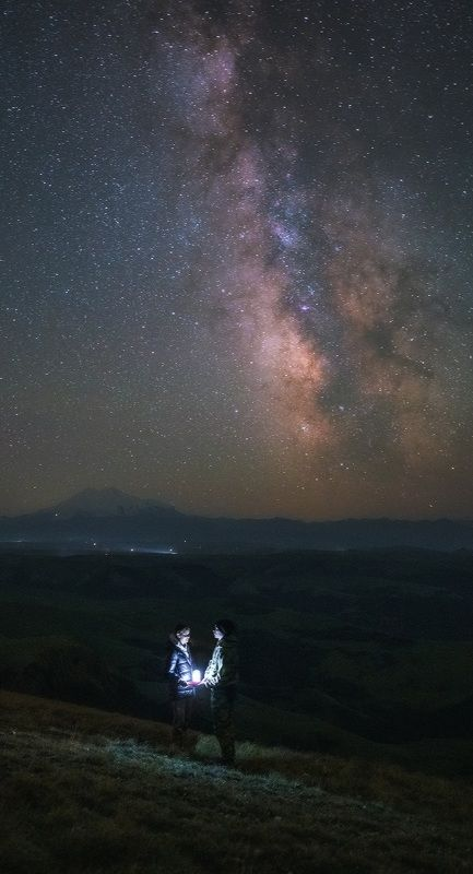 бермамыт, эльбрус, ночь, млечный путь, love story Love storyphoto preview