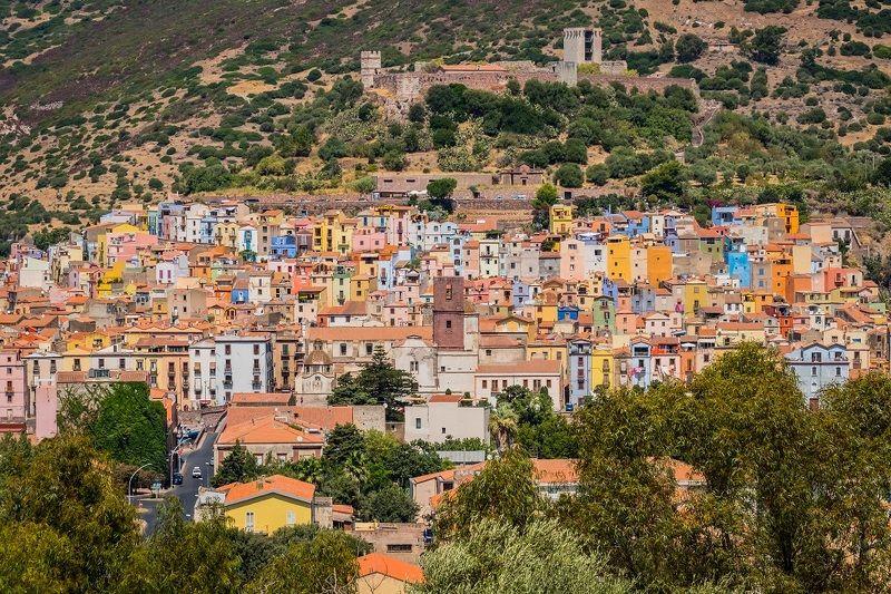bosa, sardinia, italy, houses, architecture, colorful, village, city, island, сардини, дома, цветные дома, город, италия Bosa, Sardinia, Italyphoto preview