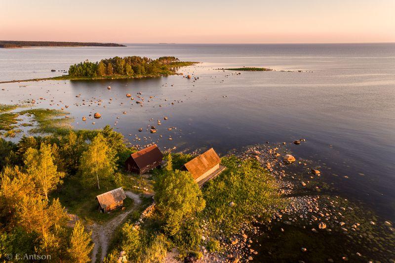 пейзаж, природа, лето, море Рассвет в pыбацкой деревне фото превью
