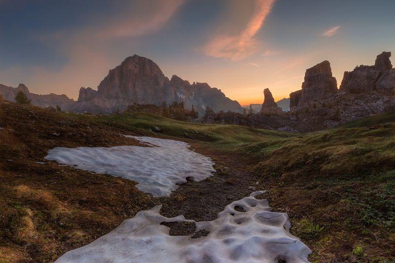 италия, доломиты, горы, облака, восход, природа, landscape, italy, dolomites, golden hour, golden light, sunrise Доломиты.photo preview