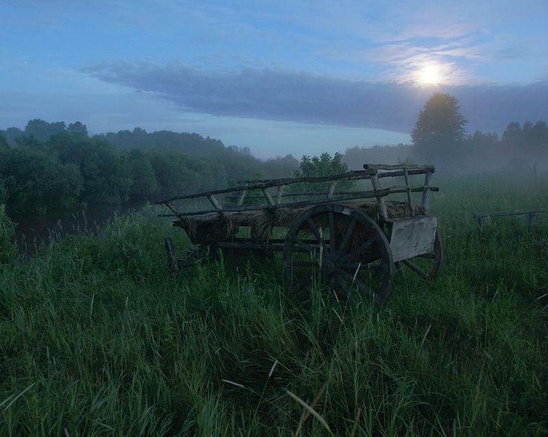 деревня, ночь, полнолуние Лунная ночьphoto preview