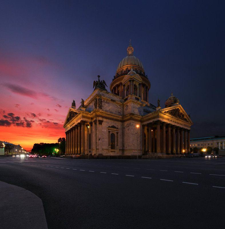 закат,храм,город,собор,архитектура,architecture,sunset,city,panorama,russia Исаакиевский соборphoto preview
