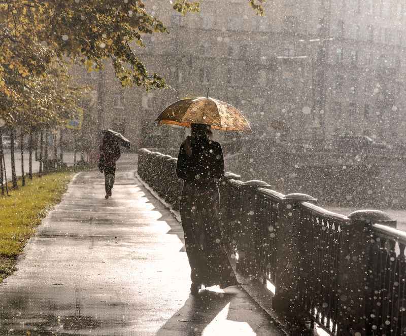 санкт-петербург осенний дождь...photo preview