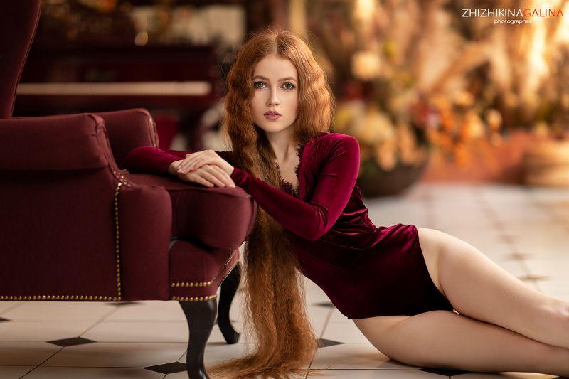 рыжая, длинные волосы, портрет, лицо, girl, face, portrait Ольгаphoto preview