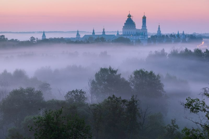 туман, храм, утро, подмосковье, истра Истринские туманыphoto preview