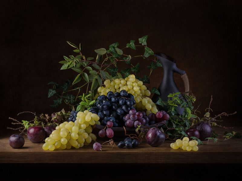 натюрморт, виноград, темный Виноградphoto preview