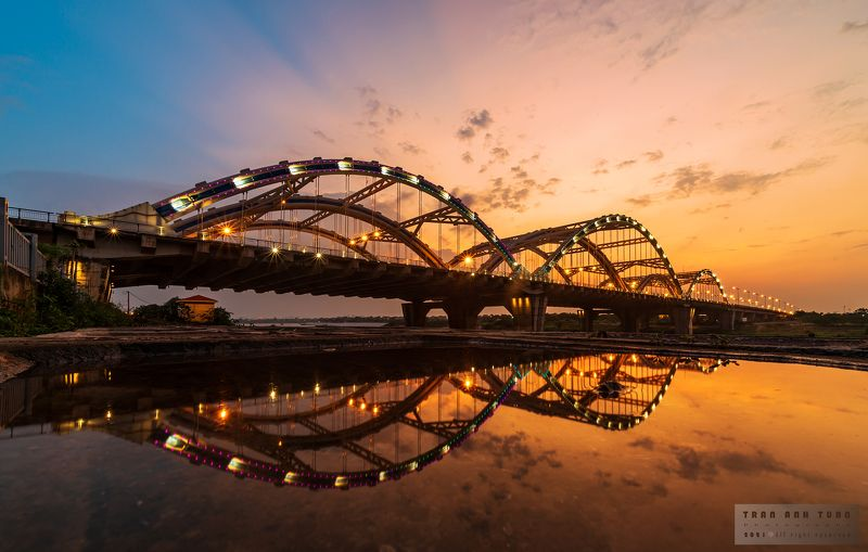 architecture, Hanoi, Sunset, Reflection, Vietnam, Nikon, Laowa Sunset at Dong Tru Bridge, Vietnamphoto preview