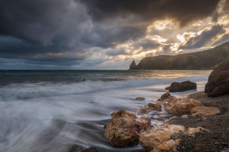севастополь, фиолент, море, небо. Пляж в сентябре.photo preview