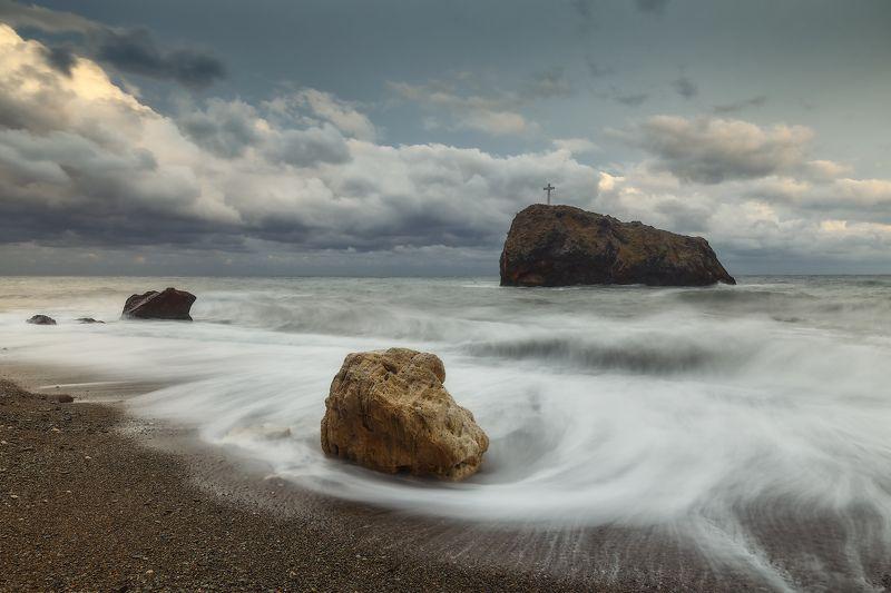 севастополь, море, шторм, закат. Непогода.photo preview