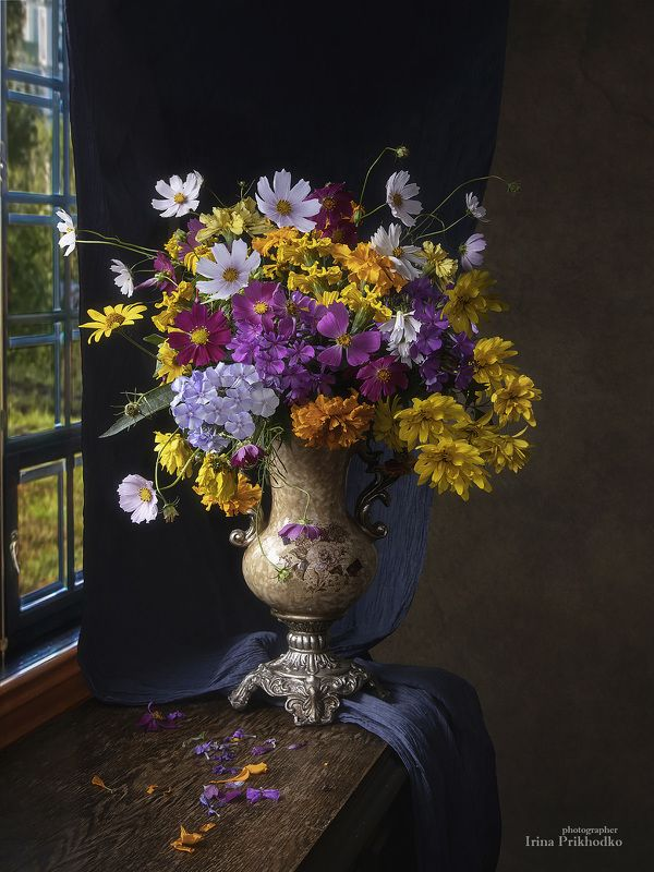 натюрморт, цветы, букеты, осень, художественная фотография Сентябрьский букетphoto preview
